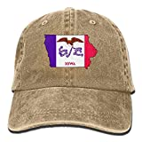 Aoliaoyudonggha Flag of Iowa State Unisex Adjustable Baseball Caps Denim Hats Cowboy Sport Outdoor