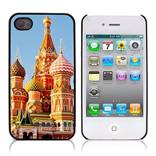 Graphic4You St Petersburg Russia Postkarte Ansichtskarte Design Harte Hülle Case Tasche Schutzhülle für Apple iPhone 4 und 4S Design #1
