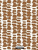 Notebook: Brown pattern cover and Dot Graph Line Sketch pages, Extra large (8.5 x 11) inches, 110 pages, White paper, Sketch, Draw and Paint (Brown pattern notebook)