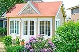 Alpholz Gartenhaus Clockhouse-28 - Holzhaus mit 5 x Fenster - Blockhaus Bausatz - Gartenhütte Winterfest - Blockbohlenhaus Gartenhäuschen ohne Imprägnierung