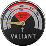 Valiant Magnetic Log Burner & Stove Thermometer-Red, 63mm