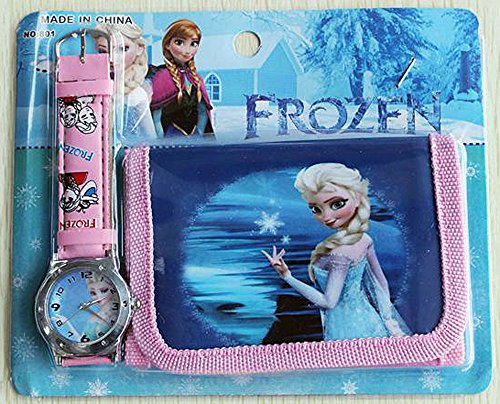 Frozen Disney Frozen Childrens Watch and Wallet/Purse Set (Elsa)