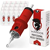 WARRIOR Red Round Shader Tattoo Naalden & Cartridges Professionele Gesteriliseerde Tattoo Naald Cartridge 20 Stuks 316L Chiru