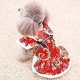 Costume de chien de nouvel an Automne et hiver animal Tang costume Teddy Vêtements à quatre pattes Bichon Petits chiens Vêtements d'hiver épaissis chauds , 007 , XL
