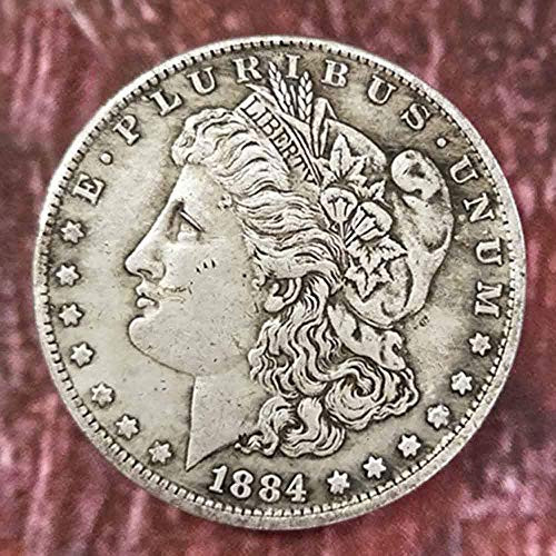 YunBest Best Morgan Silver Dollars - 1884 Old Coin Collecting Silber-Dollar USA Old Original Pre Morgan Dollar BestShop (Silber Morgan Dollar)