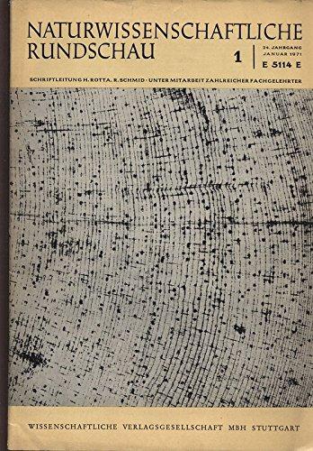 Jahrringchronologie bei der Borstenkiefer, in: NATURWISSENSCHAFTLICHE RUNDSCHAU, 1/1971.