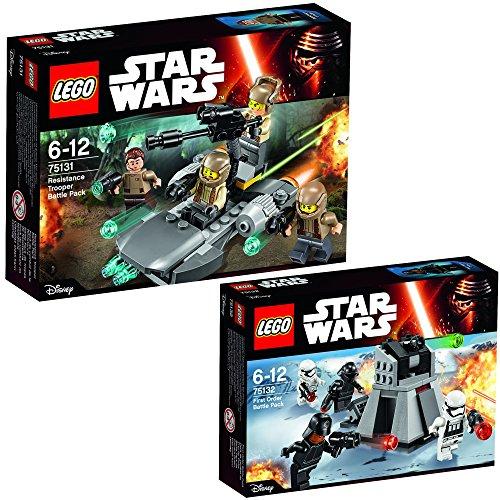 Lego Star Wars 2er Set 75131 75132 Resistance Trooper Battle Pack + - 75131 Pack Star Resistance Wars Battle Lego