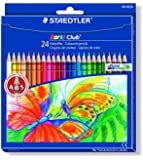Staedtler 144NC24 Noris Club Colouring Pencils - Assorted Colours, Pack of 24