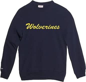 Mitchell /& Ness Wei/ß NCAA Durham Blue Devils Wordmark Logo Sweatshirt
