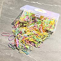the GreatTony Pack of 500 Multi-color Elastic Hair Bands Small Candy Color Soft Mini Rubber Bands with Box