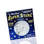 200pcs/bag Solid Stars Glow in The Dark Kid's Bedroom Corridor Ceiling Fluorescent 3D Wall Sticker Home Decor