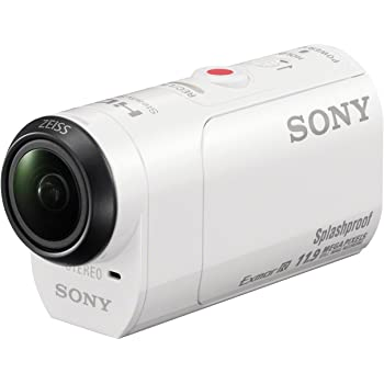 Sony HDR-AZ1 Mini-Format Action Kamera mit Profi-Feature (Spritzwassergeschützte mit Exmor R CMOS Sensor, lichtstarkem Carl Zeiss Tessar Optik, Bildstabilisator, WiFi, NFC Funktion) weiß