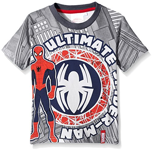 Marvel Jungen T-Shirt Ultimate Spiderman, Grau-Grey (Meteor), 3 Jahr (Marvel Nova Shirt)