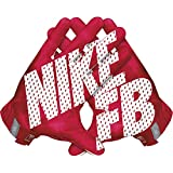 Nike Vapor Jet 3.0 American Football Handschuhe Receiver - University Red/Gym Red/Black/White (Large)