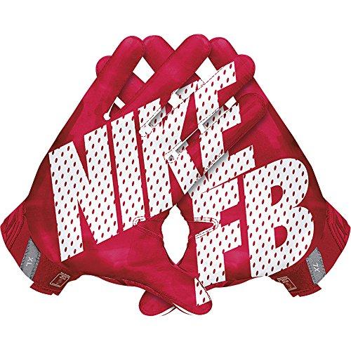 Nike Vapor Jet 3.0 American Football Handschuhe Receiver - University Red/Gym Red/Black/White (Large)