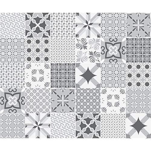 Cuadros de Cemento Adhesiva Pared-Azulejos-15x 15cm-30Piezas