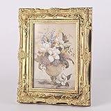 Vintage orné Baroque style Rococo Cadre Photo - 12.7cm*17.8cm ou 20.3cm*25.4cm- choisissez parmi Antique or ou Argent - Doré, 12,7 x 17,8cm