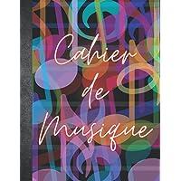 Cahier de Musique: Carnet de Partitions 12 portées par page et Seyes Grands Carreaux - 110 pages - Grand Format A4…