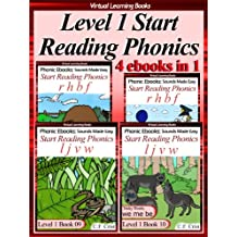 Level 1 Start Reading Phonics Books 07-10 (4 ebooks in 1) Collection (Childrens Learning To Read Activity Book) (Phonic Ebooks: Kids Learn To Read (Childrens ... 1 Collection) Sight Words) (English Edition)