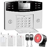 Sistema de Alarma gsm para Casa, Inalámbrico, Antirrobo, Servicio + Garantía, Multi-Accesorios y Pilas Incluidas, Voz y LCD P