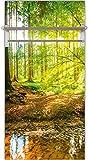 Artland Qualitätsmöbel I Garderobe mit Hutablage 60 x 120 cm Landschaften Wald Foto Braun F1YL Wald mit Bach