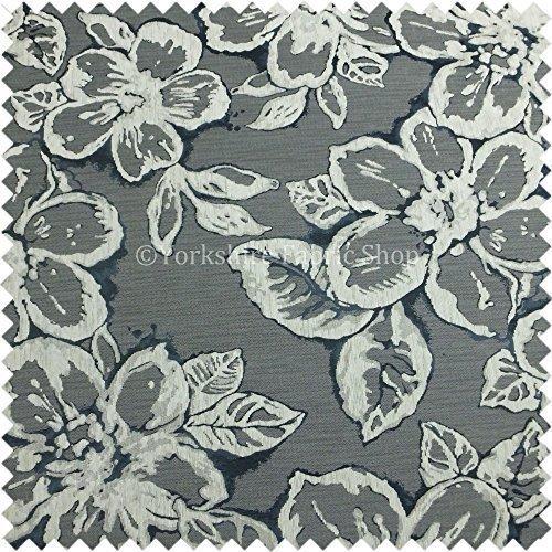 New Modern Floral Leaf Design in Weiß Blau Farbe Chenille Innendekoration Möbelstoff - Blau Chenille Möbelstoff