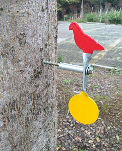 Geschraubt Typ Stahl Plinking Target - Taube + Runde Plinking Target
