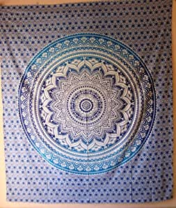 Mandala tapestries, Psychedelic Tapestry, Hippie Hippy Tapestries, Tapestry Wall Hanging, Ombre Mandala Tapestries, Indian Tapestry, Hippie Tapestries, Wall Tapestries, Hippy Boho throw, Bohemian tapestries, Home Decor by Labhanshi