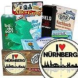 I love Nürnberg | Pflege Box | Geschenkbox | I love Nürnberg | Pflegepaket | Nürnberg Geschenke für Frauen | mit Florena Creme, Elka Dent, Badusan und mehr
