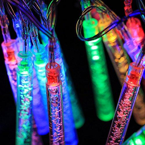 20 pc a plusieurs couleurs solaires icicle lumières, les feux de cône de glace bubble bar choisit l'éclairage de jardin terrasse ficelle, mariage, fête, fête, décor (coloré)