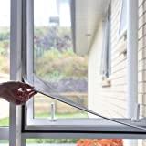 NeatiEase Raamhor,met eenvoudig te monteren PVC magneetframe, max 100 x 130 cm, magnetisch frame voor vliegengaas, ramen, was