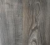PVC Vinyl-Bodenbelag in rustikaler Holzoptik Schwarz / Anthrazit | PVC-Belag verfügbar in der Breite 2 m & in der Länge 1,0 m | CV-Boden wird in benötigter Größe als Meterware geliefert | rutschhemmend