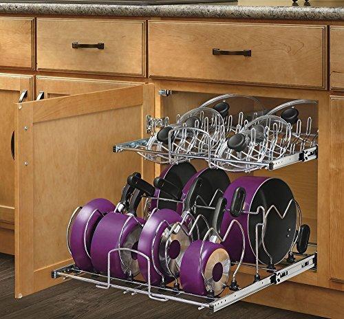Rev-A-Shelf - 5CW2-2122-CR - 21 in. Pull-Out 2-Tier Base Cabinet Cookware Organizer by Rev-A-Shelf (2-tier-pull-out-organizer)