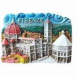 MUYU Magnet Imán para Nevera de Recuerdo de Florencia Italia 3D, Decoración de hogar y Cocina, Imán para Nevera de Firenze Florence