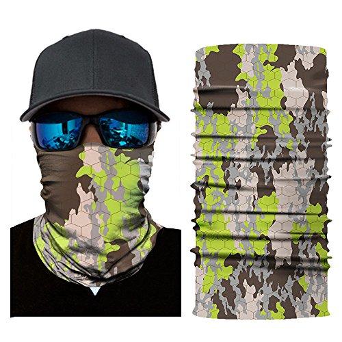 bingT Multifunktionale Druckmaske Reiten, atmungsaktive Mikrofaser Handtuch Schals,Gesichtsmaske Halstuch Ski Motorrad Paintball Halloween Maske (C)