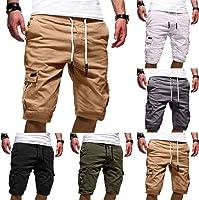 Daoope Pantaloncini Uomo Shorts Estivi Uomini Drawstring Pantaloncini Corti Bermuda Uomo Corti Sport Uomini di Colore...