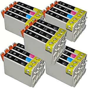 AA+inks 20x TO615 Compatible Ink Cartridges T0611 T0614 Replace for Epson Stylus DX 4200 4250 4800 4850 3800 3850 Printers (8x 611 4x 612 4x 613 4x 614)
