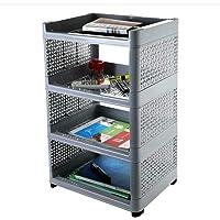 Divyata mall Plastic 4 Layer Book Storage Display Rack Shelf Organizer (Multicolor)
