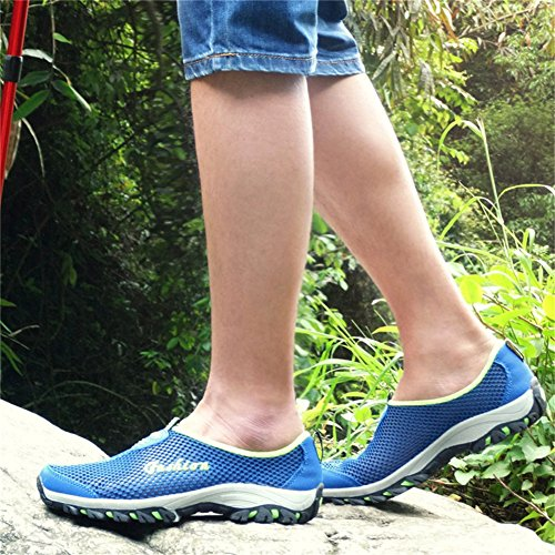 SAGUARO® Chaussure Aquatique Chaussures de Bain Chaussons d'eau Chausson de Sport pour Femme Homme Bleu