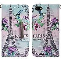 Handyhülle Huawei Y5 2018,HUDDU Paris Blumen Muster Rosa Schutzhülle Huawei Y5 2018 Hülle Flip Leder Tasche Slim... preisvergleich bei billige-tabletten.eu