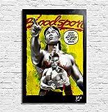 Jean Claude Van Damme aus Bloodsport – Eine wahre Geschichte (1988) - Original Gerahmt Fine Art Malerei, Pop-Art, Poster, Leinwand, Artwork, Film Plakat, Leinwanddruck, Kampfsportarten