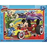 Ravensburger Rahmenpuzzle 06159 DMM: Disney Mouse Mickey and The Roadster Racers Geben Gas, Puzzle