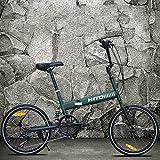 20-zoll- Faltrad Stoßdämpfende Off-road- Anti-reifen Mountainbike Männliche und weibliche erwachsene dame fahrrad-Grün 152x115cm(60x45inch)