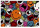 ARTWORK FACES moderner Designer Teppich bunt in multicolor, Größe: 120x170 cm