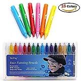JER 16 Farben Schminkstifte Ungiftige Kinderschminke Ideal für Körperbemalungen von Kindern und Erwachsenen Gesichtsfarbe für Halloween, Ostern, Mottopartys und Cosplay