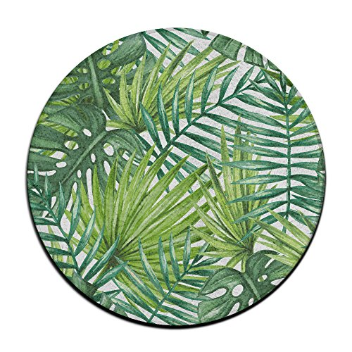 Watercolor Tropical Palm Blätter Rund Teppich Bereich Teppich Eingang Eintrag Weg, vorne Fußmatte Ground 59,9 cm Teppiche für Decor Dekorative Herren Frauen Büro (Outdoor-teppich Tropical)