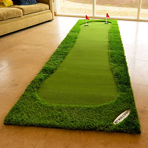 FORB Professional Putting Mat - Standard 12ft x 3.2ft or XL 13.1ft x 6.5ft - Outdoor & Indoor Golf Green Putting Mat To Help Improve Putting Skills! [Net World Sports] (Standard)