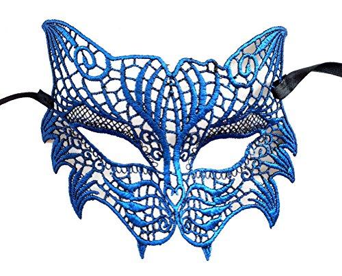 Schnüren Venezianische Maskerade Maske Fuchs Löwe Katze Maske Halloween Mardi Gras Maske (Halloween Stadt Party Kostüme Sexy)