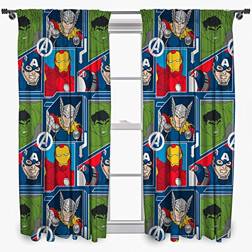 Disney Marvel Avengers Tech 72-Inch Curtain Set