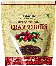 Chenab Sweetened Dried Cranberries, 200g
